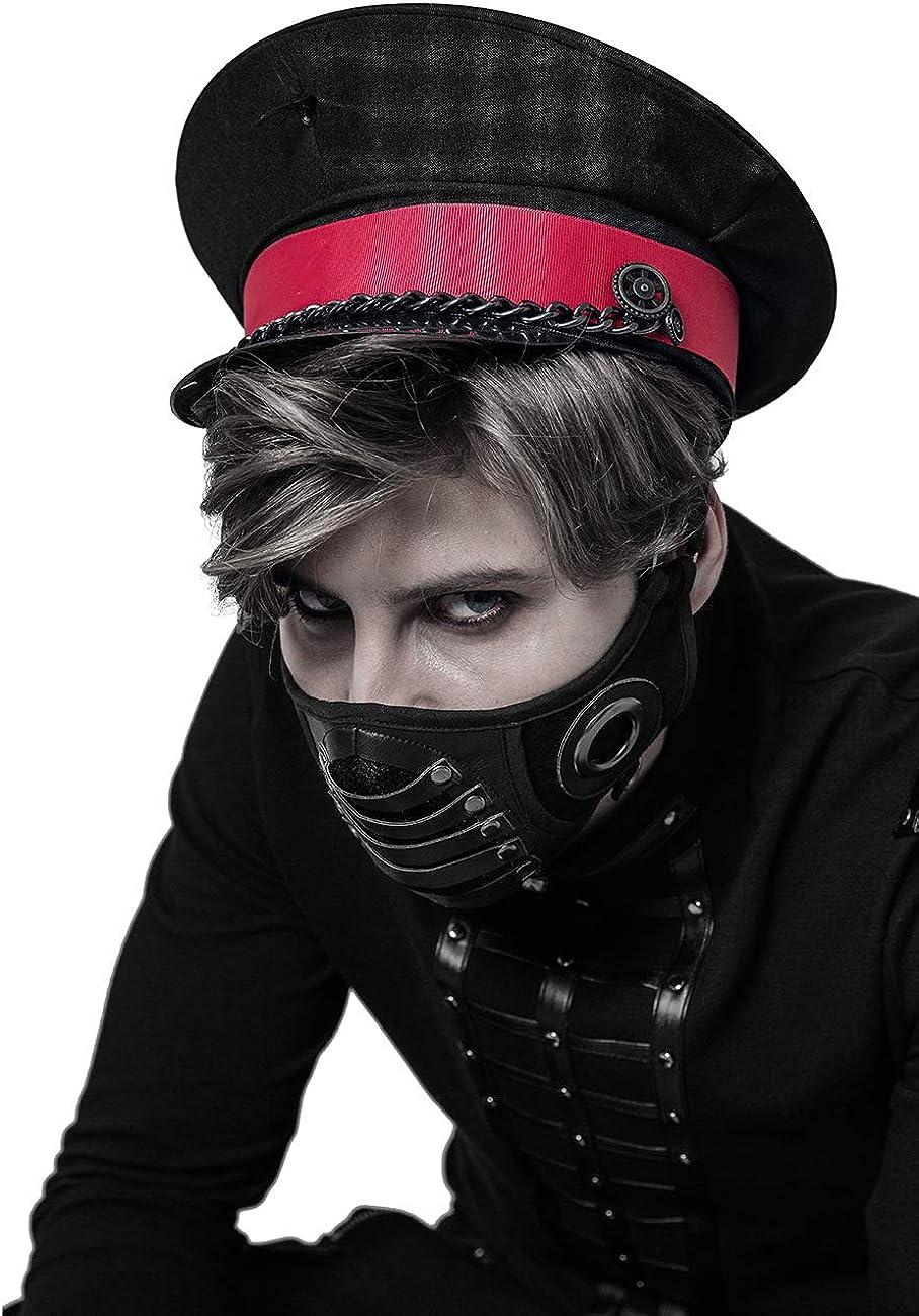 Punk Rave Steampunk - Máscara de media máscara para disfraz de ...