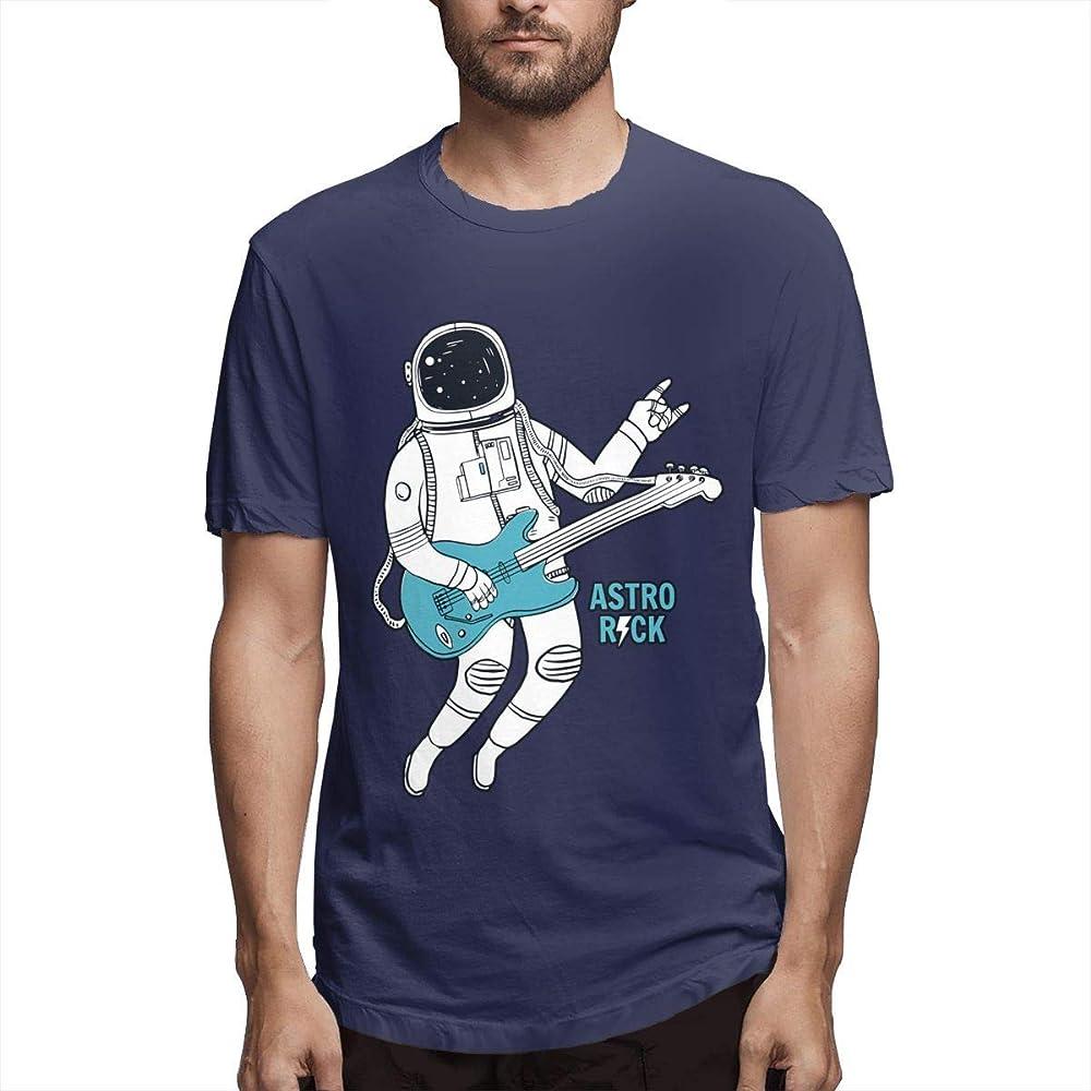 Hombres Imprimen Transpirable Astronauta Tocando la Guitarra con ...
