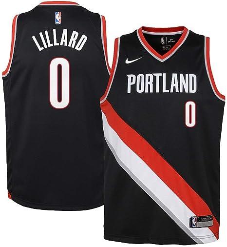 Amazon Com Nike Youth Damian Lillard Portland Trail Blazers Swingman Jersey Icon Edition Size S Clothing