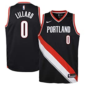 competitive price 034db 35b52 Image Unavailable. Image not available for. Color  NIKE Youth Damian  Lillard Portland Trail Blazers Swingman Jersey ...
