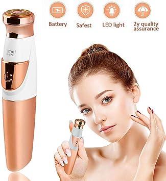 Maquinilla de afeitar eléctrica para mujer, depilación facial ...
