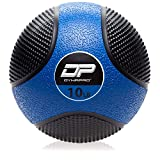 DYNAPRO Medicine Ball | Exercise Ball, Durable Rubber, Consistent Weight Distribution, Comfort Textured Grip for Strength Training (Blue- 10LB)