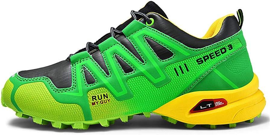 LHY HIKING Zapatos Luminosos de Trekking y Senderismo para Hombres, Zapatos Deportivos cómodos de Gran tamaño, Zapatillas de Deporte Transpirables/Botas Ligeras de Escalada/Calzado 39-47: Amazon.es: Deportes y aire libre