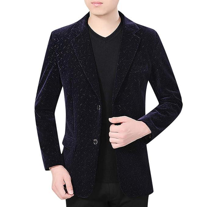 Xmiral - Disfraz para Hombre Blazer de Terciopelo Lateral Slim Fit ...
