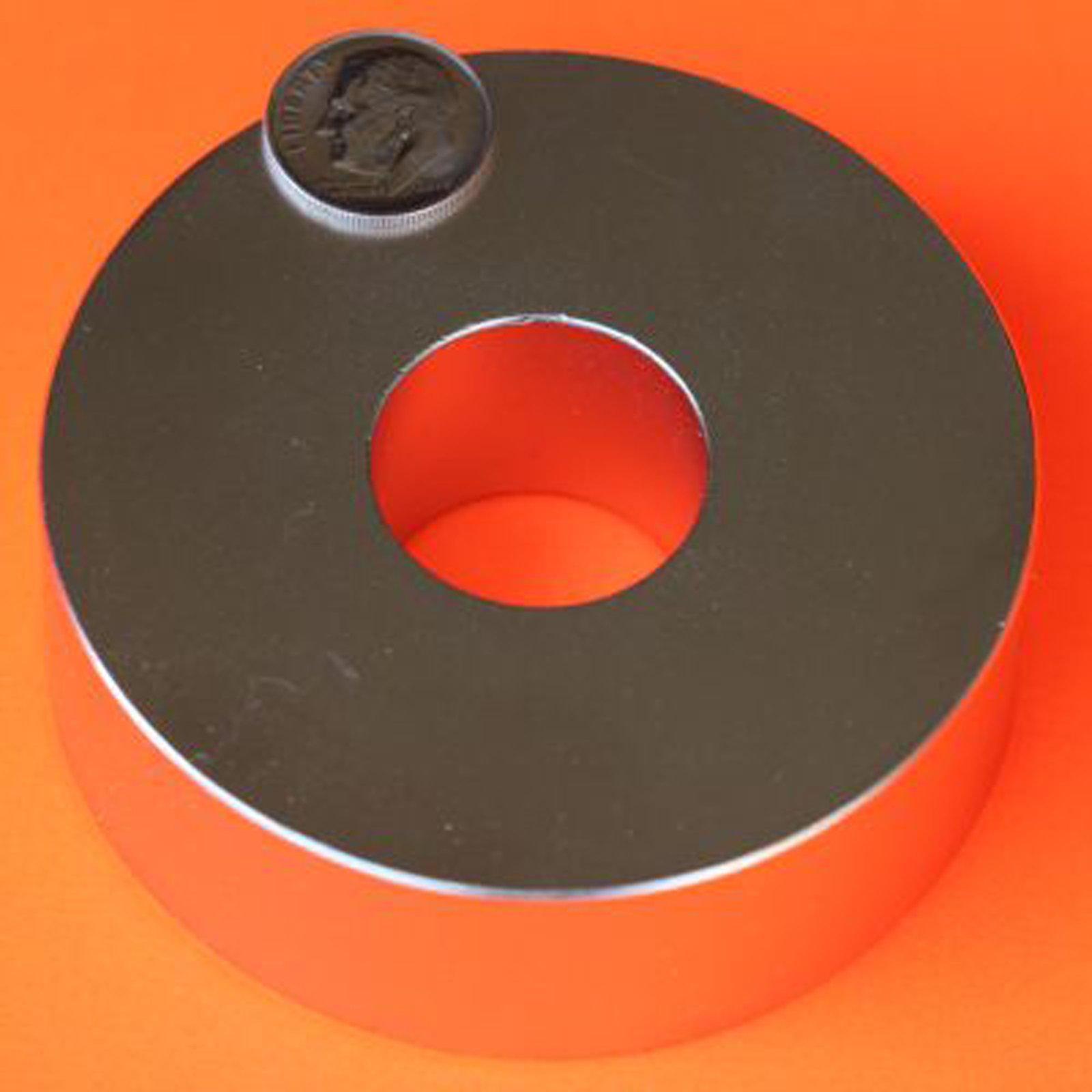 Applied Magnets 1 Piece 3'' OD x 1.25'' ID x 1'' Grade N45 Neodymium Ring Magnet