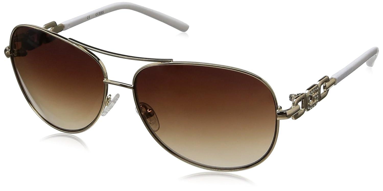 7f50de0069 Guess Women s GU7289-GLD-34 Gold Aviator Sunglasses  Guess  Amazon.ca   Clothing   Accessories
