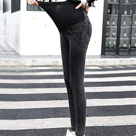 Super Soft Stretch Secret Fit Belly Skinny Jean Ankle Length Womens Maternity Pants Casual Nursing Leggings Trousers Beyonds Maternity Jeans for Women