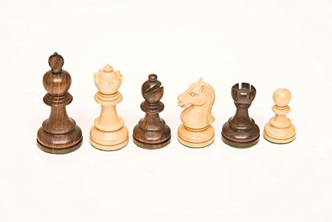 118 Golden Rosewood & Boxwood 3.50 Chess Set