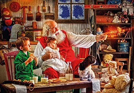 Gibsons Calling His Sleigh Jigsaw Puzzle 2000 Pieces by Gibsons