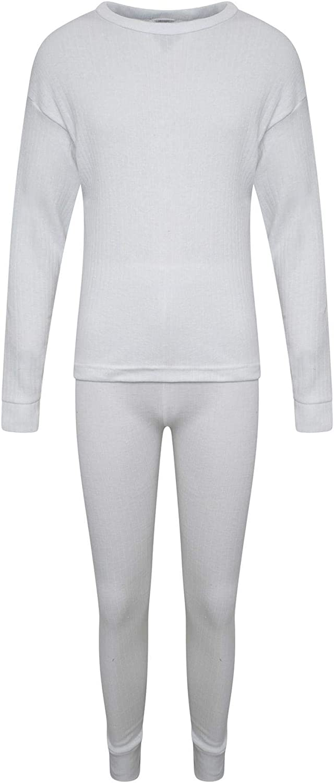 set di biancheria intima termica per bambini a maniche lunghe e pantaloni abbinati unisex per ragazzi e ragazze KidCollection set invernale caldo da 2 a 13 anni