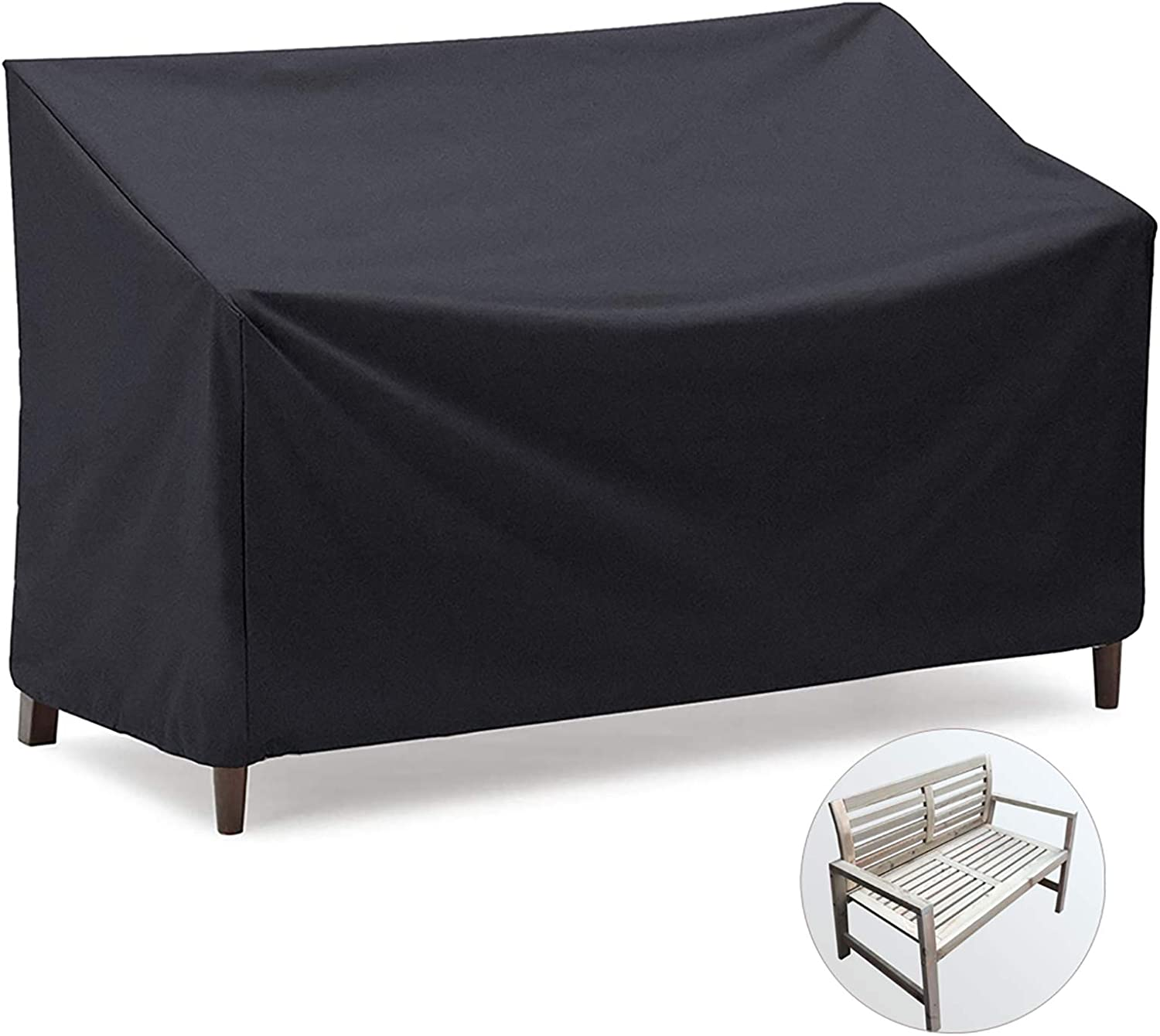 Onlyme Outdoor Patio Bench Cover Waterproof, 3 Seater, Loveseat, Sofa, Glider, Furniture Cover
