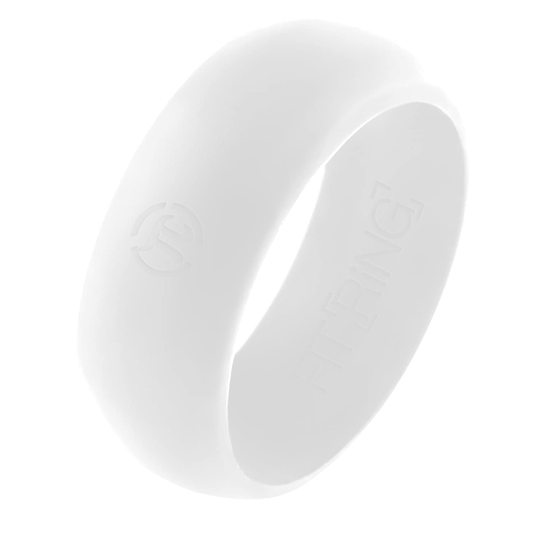 Unique Silicone Wedding Ring Blue Line