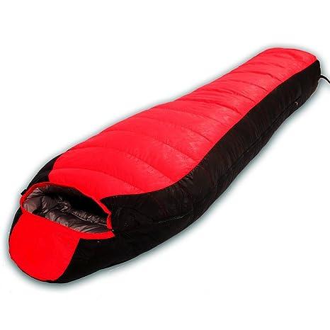 Impermeable de peso ligero Sacos de dormir Keep Warm Field Momia portátil Doble pelea con gorro ...