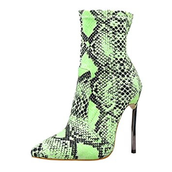 Womens Leather Ankle Boots Thin Heels Pointy Toe Zipper Plush Daily Wear Booties