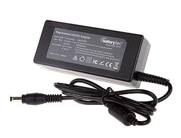 Batterytec® 65W 19V 3.42A Adaptador de cargador para TOSHIBA PA3097U-1ACA PA3396E-1ACA PA3396U-1ACA PA3464U PA3464U-IAC3B PA3467U-1ACA.Con el cable de ...