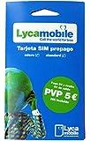 Tarjeta SIM Lycamobile - 5€ de saldo - llamadas nacionales e internacionales - Internet móvil - cobertura Movistar…