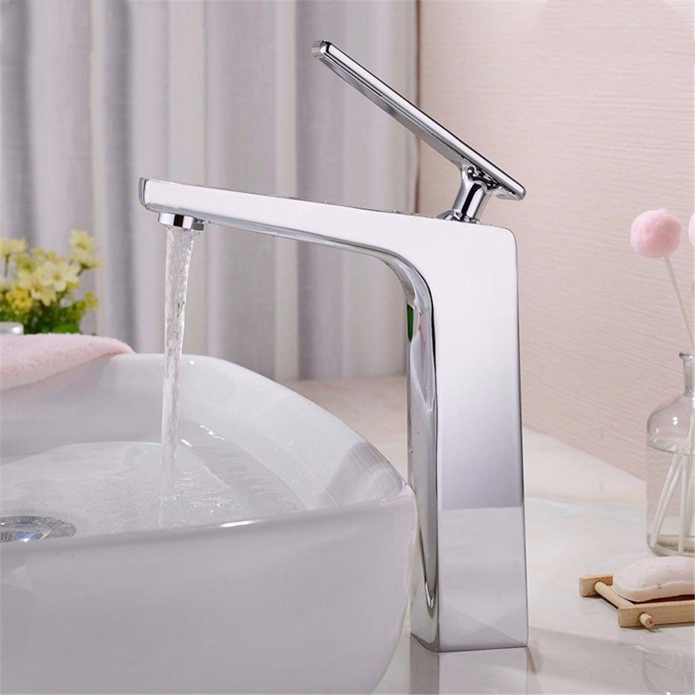 ANNTYE Waschtischarmatur Bad Mischbatterie Badarmatur Waschbecken Messing Warmes und kaltes Wasser Badezimmer Waschtischmischer