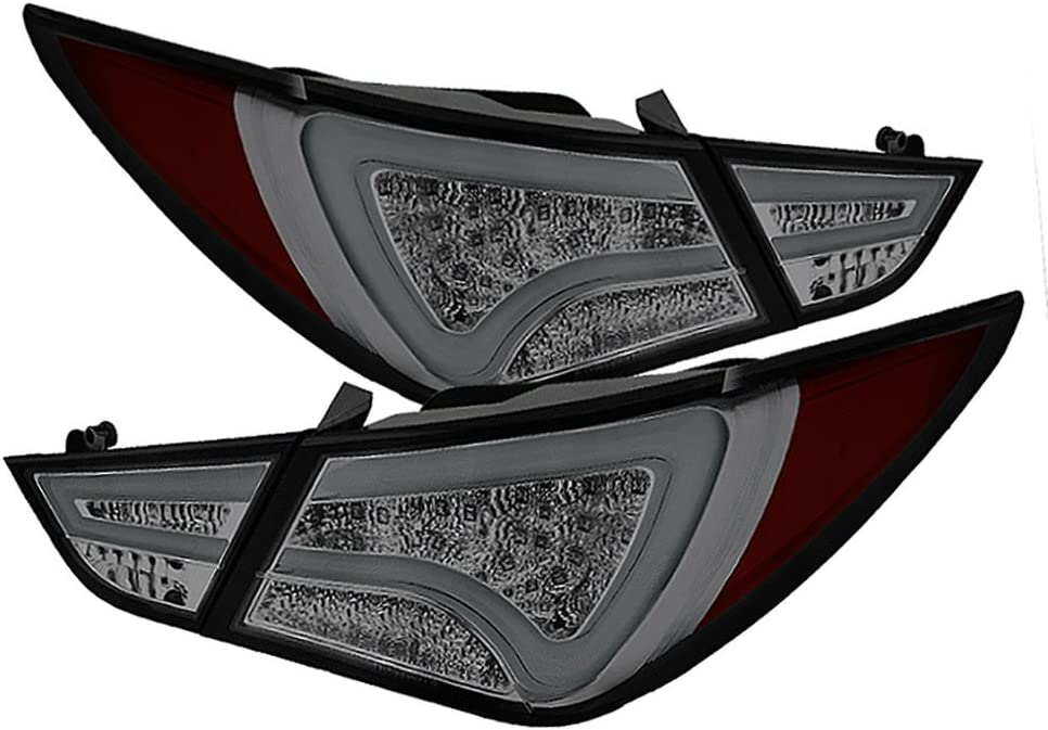 MOSTPLUS LED Tail Lights For 2011 2012 2013 2014 Hyundai Sonata 6th Gen Sedan Brake Smoke Lens Lightbar LH+RH
