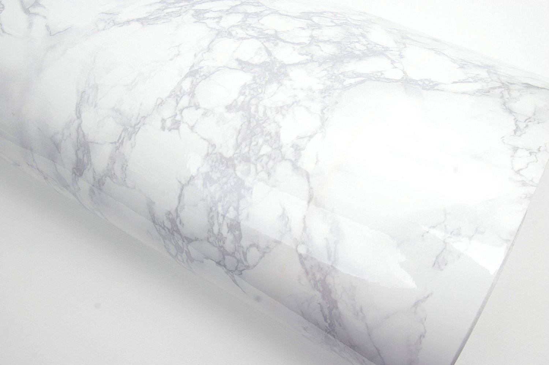 ROSEROSA Peel and Stick PVC Instant Marble Decorative Self-Adhesive Film Countertop Backsplash Napoleon Marble (PGS408 : 4.00ft X 6.56ft) by ROSEROSA (Image #2)