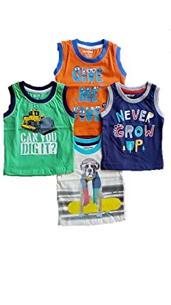 1385fad0 Image Unavailable. Image not available for. Colour: Cucumber Sleeveless T- Shirt for Boys ...