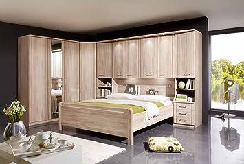 Schlafzimmer Eiche-sägerau-Nb mit Kleiderschrank B:150 cm ...