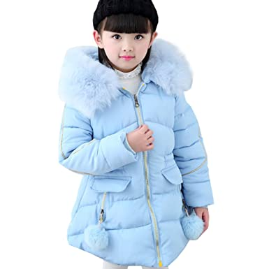 6633baff9 LSERVER Little Big Girl Winter Parka Warm Down Coat Puffer Jacket Down  Cotton Padded Overcoat with