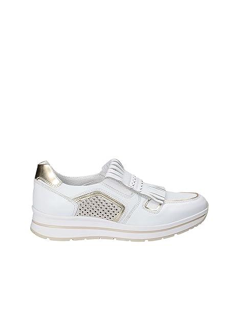 Nero Giardini Donna Sneakers Bianco P805240D Scarpe in Pelle Primavera  Estate 2018 38a42770700