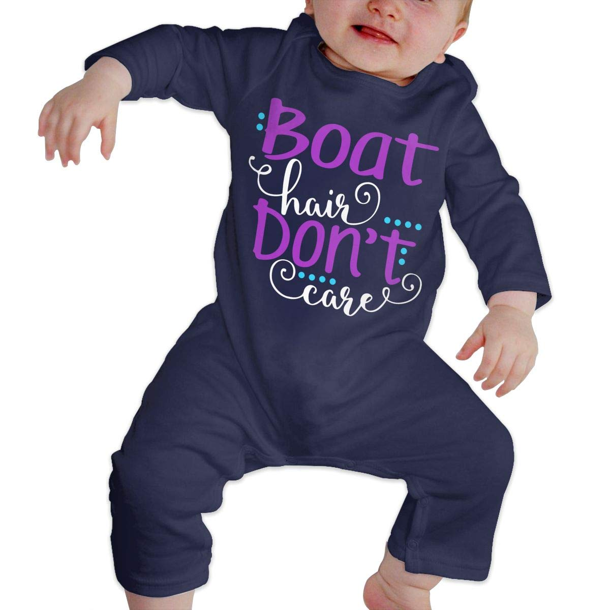 Mri-le1 Toddler Baby Boy Girl Bodysuits Boat Hair Dont Care Baby Clothes