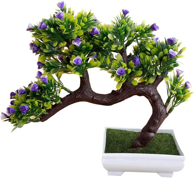 Fake Bonsai Artificial Potted Plant Decor Home Tree Plants Garden Pot Flowers
