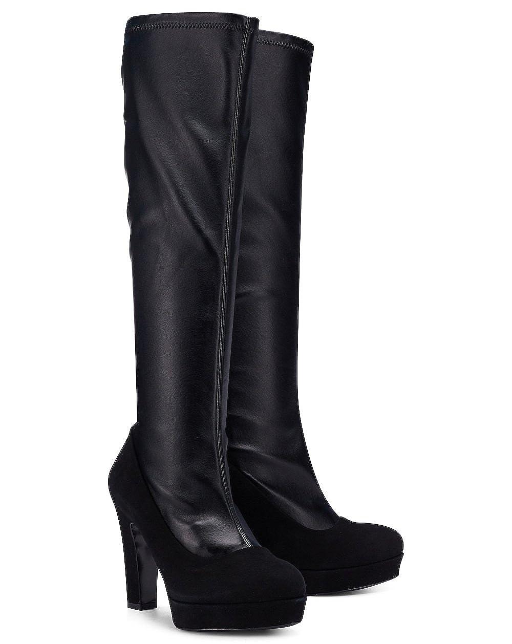 Intramontabile Stiefel Footwear Grace - Elegante Stiefel Intramontabile aus Veloursleder und Nappaleder 1ee525