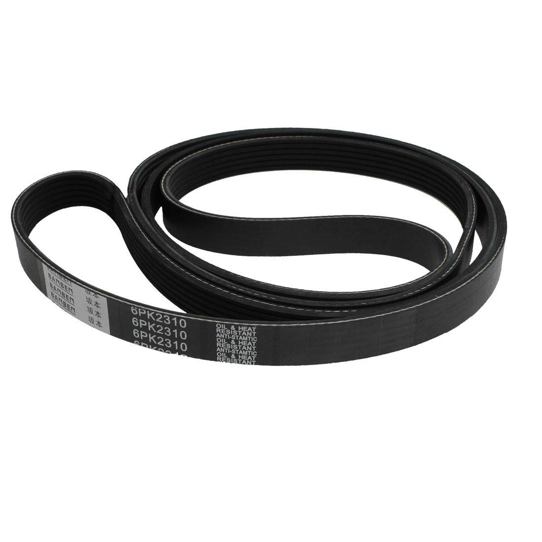 sourcingmap 6PK2310 Car Black Rubber Poly-V Serpentine Belt a13012500ux0088