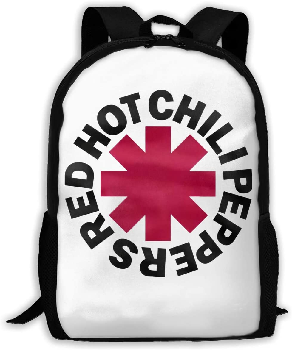 Red Hot Chili Peppers Travel Laptop Backpack Canvas Casual Bookbag