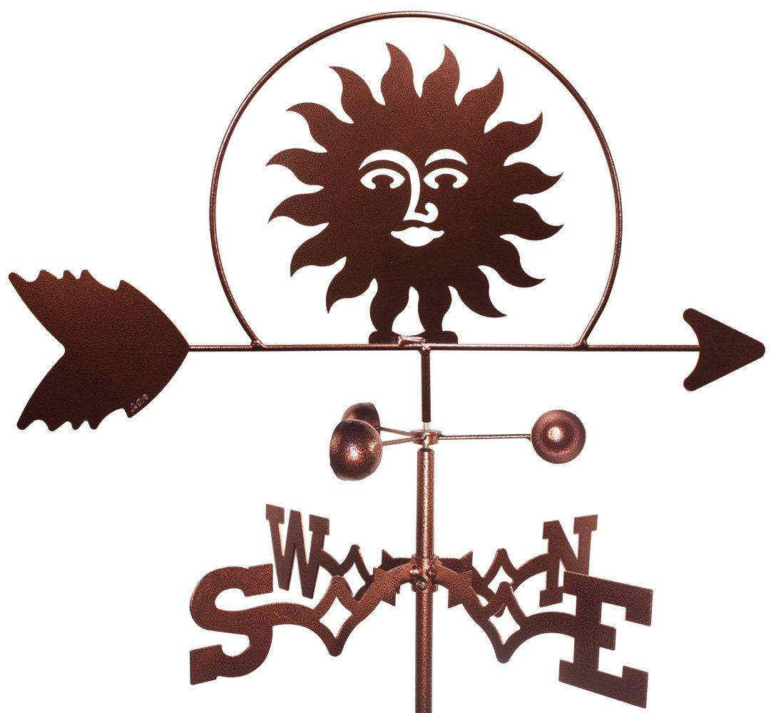 MONTGOMERY INDUSTRIES Southwest Sun Weathervane (Roof Mount)