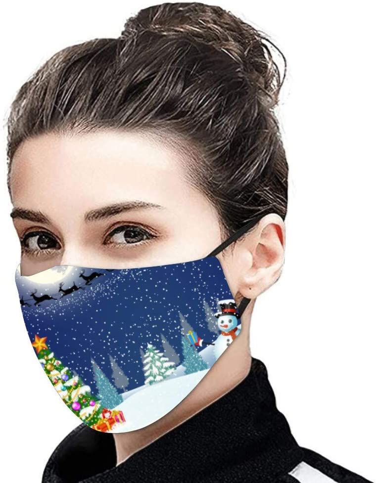 EWQAZ 1PC Unisex Christmas Print Cotton Washable Reusable Face Coverings (lots to choose from) £2.39 w/code IFVU34X9 @ Amazon