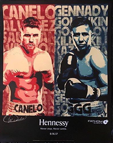 Fathom Event Boxing Original Poster Canelo Alvarez vs Gennady Golovkin