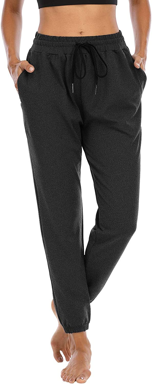 Sarin Mathews Womens Athletic Joggers Pants Comfy Drawstring Workout Lounge Pants Yoga Sweatpants for Women with Pockets