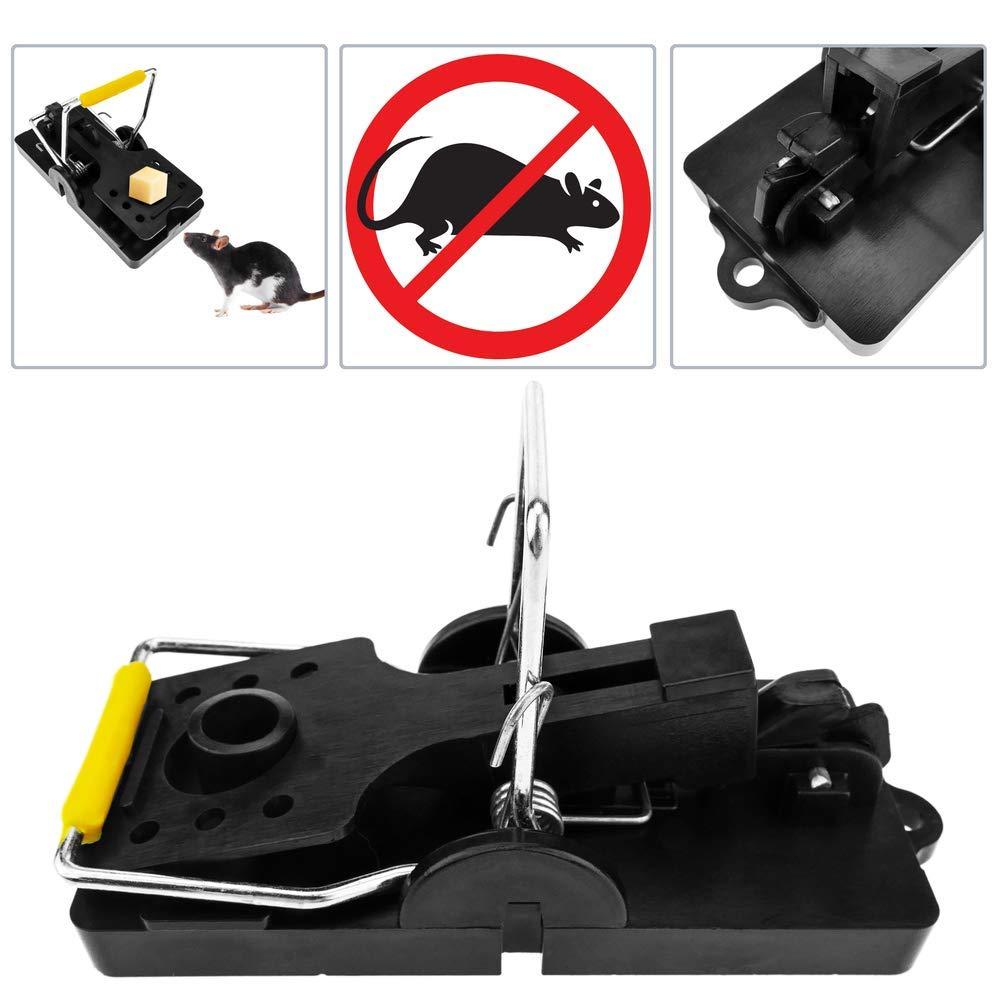 Trampa para Ratones y peque/ños roedores Pinza met/álica Pack de 2 Unidades 50 x 114 x 60 mm PrimeMatik
