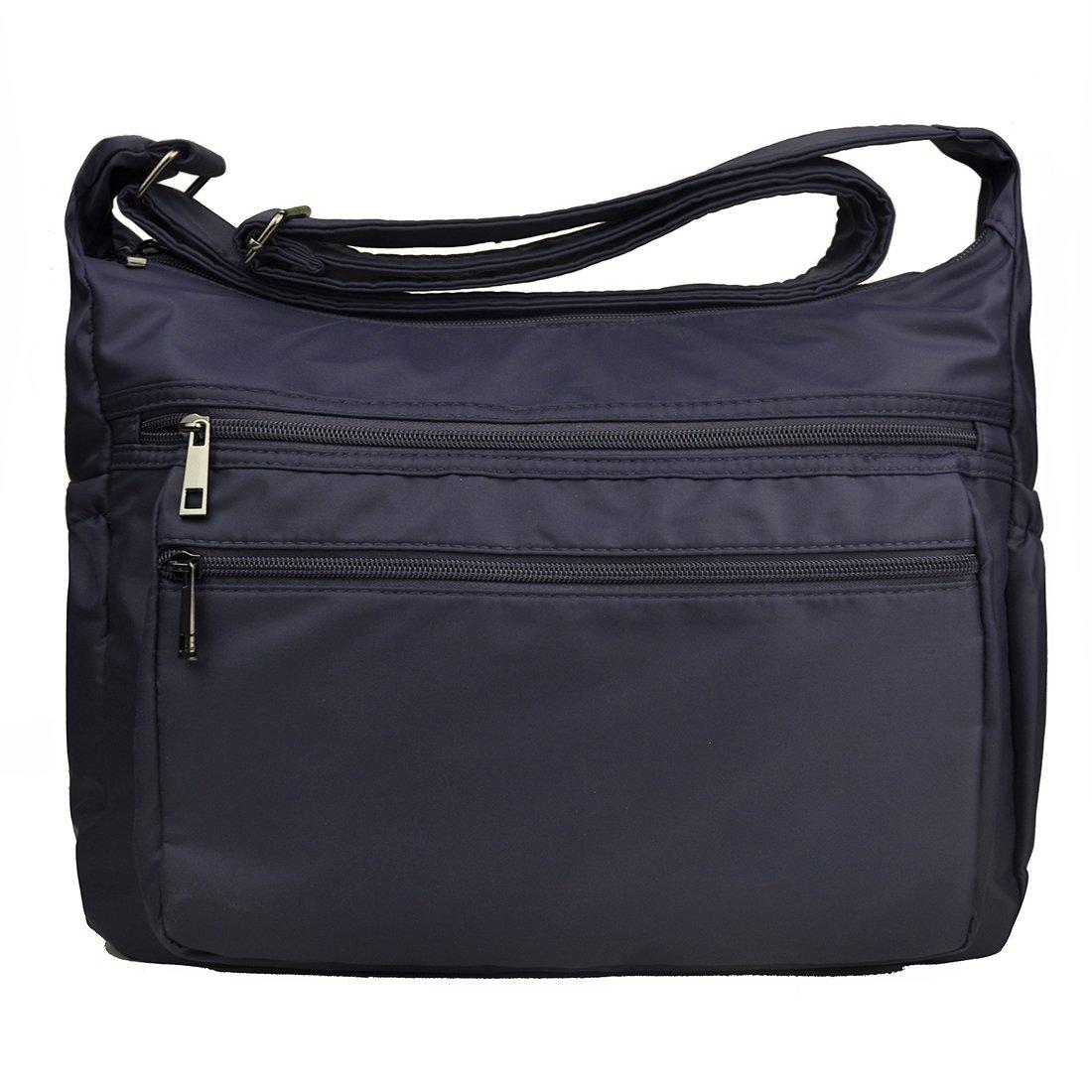 Women Multi Pocket Crossbody Bag Large Shoulder Bag Lightweight Purse and Handbags Travel Pocketbooks