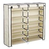 Amazon Price History for:SONGMICS 7-Tier Portable Shoe Rack Organizer 36-Pair Shoe Storage Cabinet Beige URXJ12M