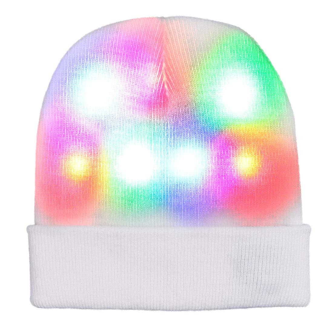 Aolibang Light up Hat Beanie LED Christmas Hat with 3 Mode Colorful Lights for Adults Women Men Kids Girls Boys Best Funny Gifts