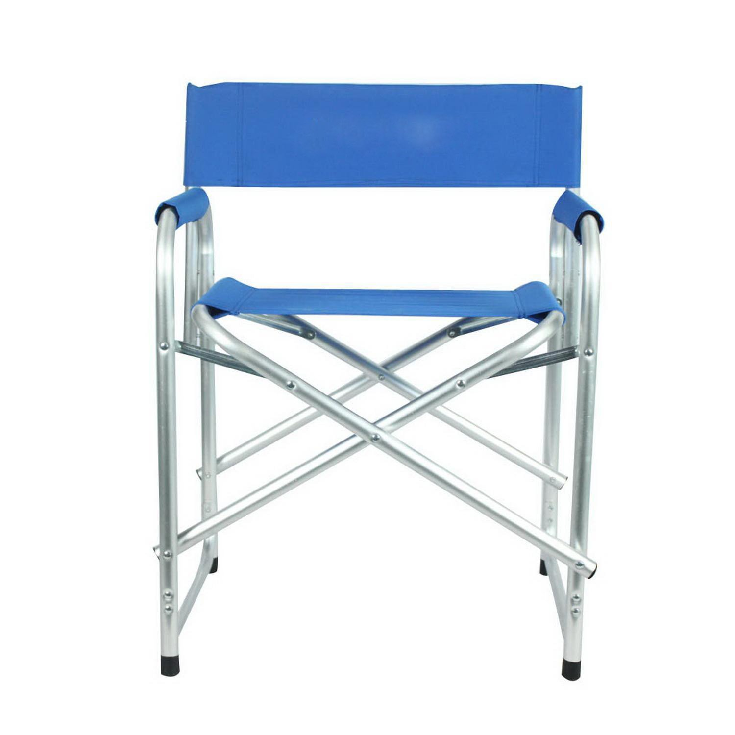 Portable Folding Director's Chair with Side Table [US Stock] (Blue) by Cosway