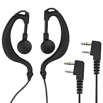 PROZOR 2pcs Auriculares con Micrófono para Walkie Talkies - Compatible con PST 888S Baofeng BF 5118 5118A 5180