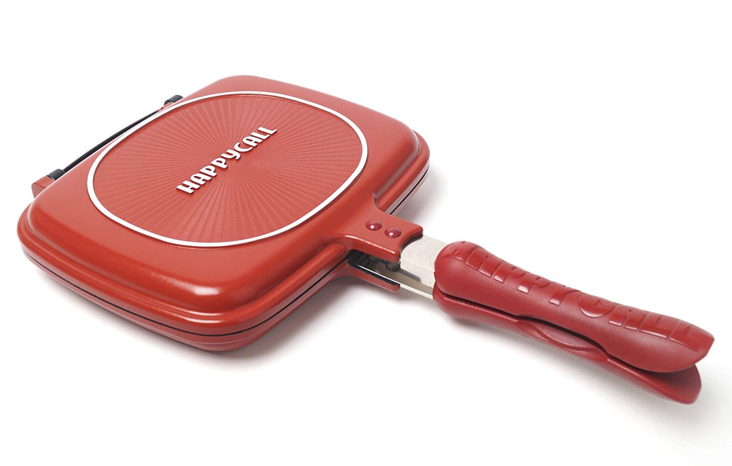 Happycall Double Sided Standard Pressure Pan Red - Standard for Cooking (Cutie Pan) by Happycall 3002-0056