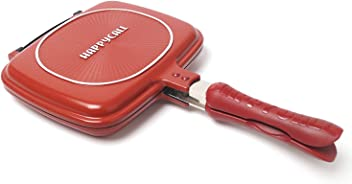 Happycall Double Sided Standard Pressure Pan Red - Standard for Cooking (Cutie Pan)
