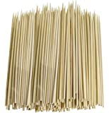 """Cocrao 8"""" Bamboo Sticks Skewers 500 PC/Bag Kabob Skewers, BBQ Skewers for Outdoor Barbecue, Fondue, Cooking, Grilling & Kabob"""