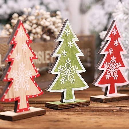 Handfly Árbol de Navidad de Madera Navidad Decoración de Madera Mesa de Escritorio Adornos para árboles de Navidad Decoración de Fiesta en casa: Amazon.es: Hogar