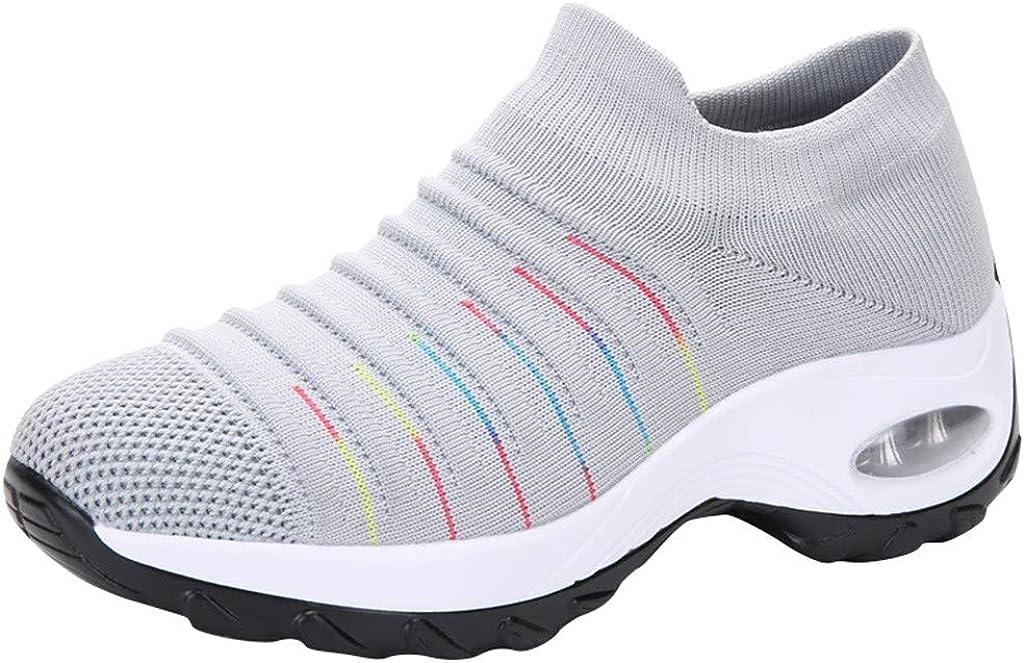 ღLILICATღ Zapatillas Deportivas de Mujer Gimnasio Zapatos Running Deportivos Fitness Correr Casual Ligero Comodos Respirable Negro Gris Azul Plata 35-42: Amazon.es: Ropa y accesorios