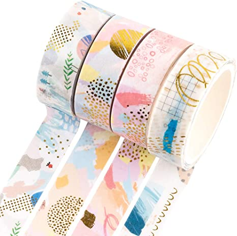 1 Roll 5M Color bronzing series washi tape DIY Diary decoration masking tape 5mm