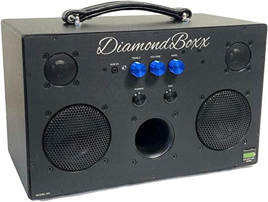 DiamondBoxx Model M3 w Big Battery – Wireless Bluetooth Speaker Powerful Loud and Clear Sound 400 Watts 40 Hours Play on Single Charge 4 amplifiers for 0 Distortion and max bass Boom All The Way up