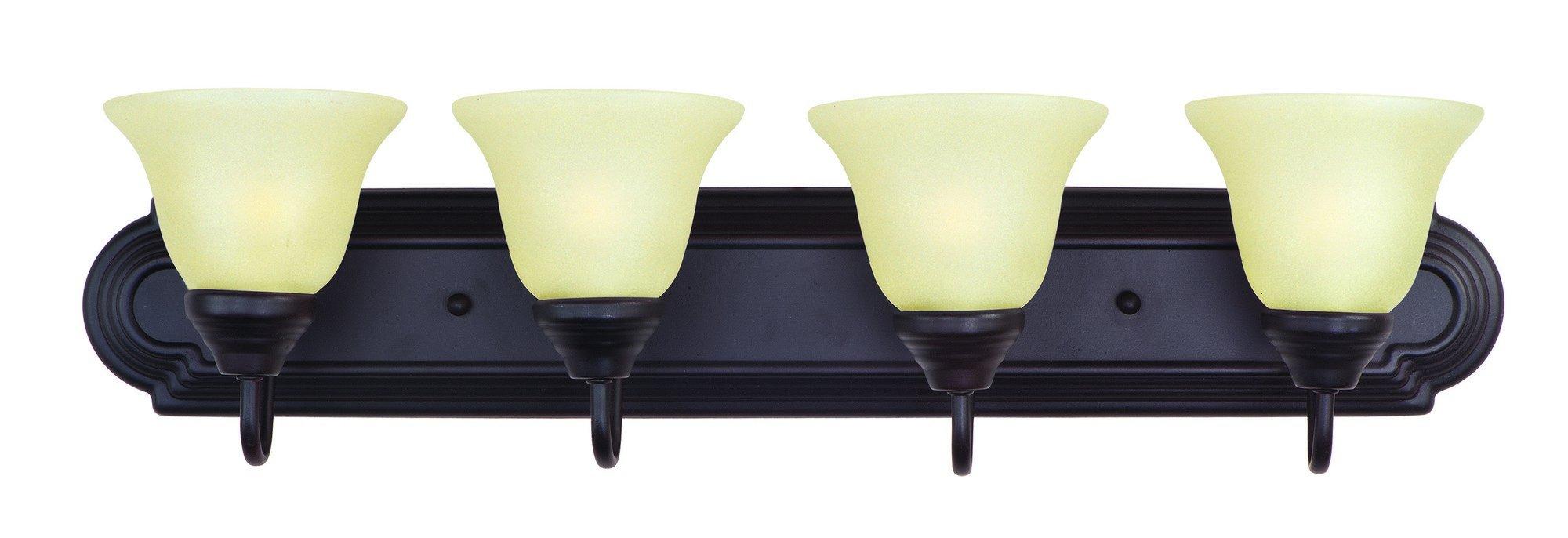 Maxim Lighting 8014WSOI, Essentials 4-Light Bath Vanity, Oil Rubbed Bronze